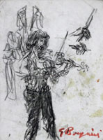 Work of Guido Borgianni  Figura con violino